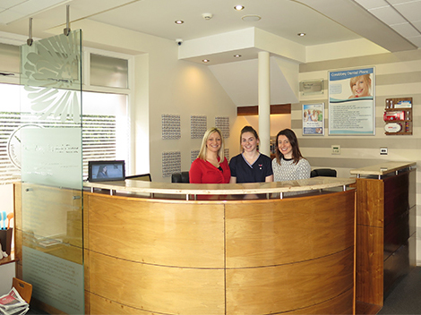 Reception at Corabbey Dental